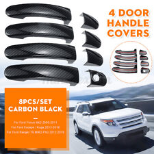 8x/Set Carbon Black 4 Door Handle Cover For Ford Focus/Escape/Kuga