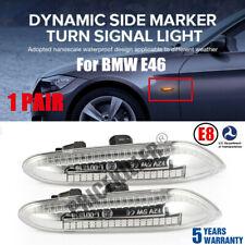 Dynamic LED Side Marker Smoked Turn Signal For BMW E46 E90 E91 E92 E60 E87 E82 @