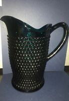 Vintage Hobnail Glass Pitcher - Aquamarine Glass Pitcher Pre-1960 ??IMPERIAL??