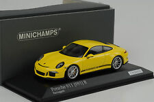 2016 Porsche 911R 911 R 991 Gelb / schwarzer Schriftzug 1:43 Minichamps Diecast