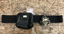 Dolce and Gabbana Sequin Leather Purse Belt
