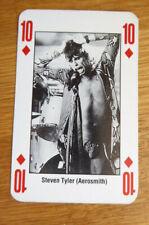 STEVEN TYLER AEROSMITH SINGLE CARD KERRANG THE KING OF METAL 1990's
