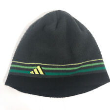 Adidas boys striped winter beanie hat Gray hbx15