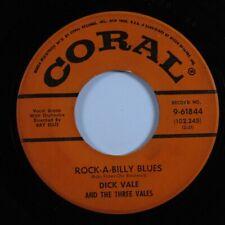Rockabilly Doo Wop 45 DICK VALE Rock-A-Billy Blues CORAL HEAR