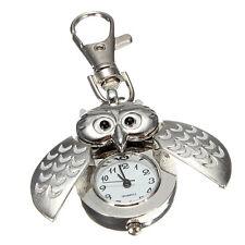 5x(Double open owl Key ring Pocket watch BT U1X4