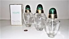 3 Empty Fragrance Bottles of Volupte Oscar De La Renta Parfum