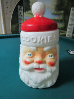 Plastic Santa Cookies Canister Jar Empire Carolina Enterprises Molded 8 1/2""