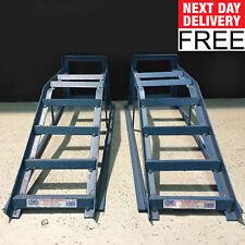Car Ramps 2.5 Tonne Extra Wide Heavy Duty Pair Car Maintenance Low Ramp