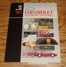 Original 1990 Chevrolet Delco Automotive Electronics Sales Brochure 90 Chevy