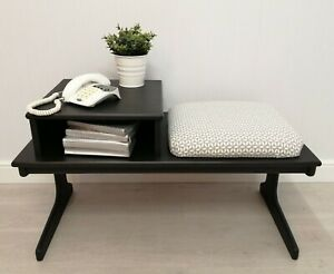 Retro Telephone Seat - Rustoleum 'Natural Charcoal' - Home Sweet Home HF4952