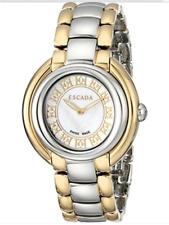 Escada Women's Watch E2435024 Ivory Two Tone Gold Silver S/ Steel~SWISS Made