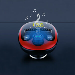 Bluetooth 5.0 Car Wireless FM Transmitter Adapter 2USB Charger AUX MP3 Player