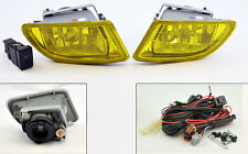 JDM Yellow Front Fog Lights Pair RH LH w/ Switch Wiring for Honda Odyssey 99-04