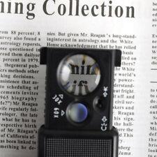Pocket Magnifier 30X 60X Microscope Mini Jewellery Loupe Glass  LED UV Currency.