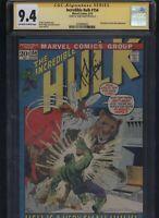 Incredible Hulk #154 CGC 9.4 SS Herb Trimpe 1972 ANT-MAN