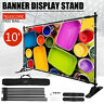 10' Banner Stand Heavy-Duty Step and Repeat Backdrop Telescopic Adjustable US