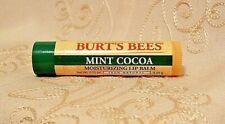 Burt's Bees Unisex Mint Cocoa Moisturizing Lip Balm 100% Natural Limited Edition