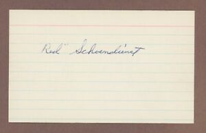 Autographed 3x5 Index Card of Cardinals Red Schoendienst