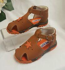 Niños Chica Joven Bebé Zapatos Sandalias Hecho ITALY Braun 101f GR 24
