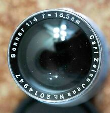 Carl Zeiss Jena Sonnar 13.5cm f4 for Contax Rangefinder uncoated