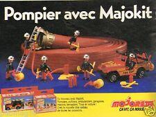 Publicité advertising 1986 Jeu Jouet Pompier Majokit de Majorette