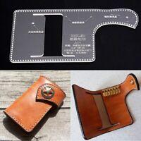 DIY Leder Handwerk Acryl Schlüsselanhänger Schlüsselanhänger Brieftasche Vorlage