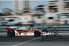 Patrick Tambay Hand Signed Marlboro McLaren F1 12x8 Photo.