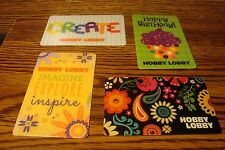 #4 (four) HOBBY LOBBY GIFT CARDs NO VALUE-Never Used or Activated Collectable  f
