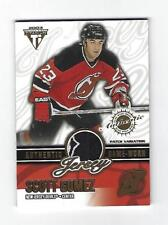 Scott Gomez 2002-03 Pacific Titanium Jersey Card, # 39, # 167 of # 256
