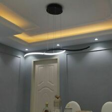 Remote Control Chandelier Light LED Bulb Matte Black/White Modern Room Lampshade