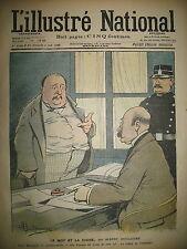 L'ILLUSTRé NATIONAL N° 27 HUMOUR CARICATURE DESSINS GUILLAUME GERBAULT 1903