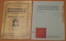 Yoakum Texas Tanning and manufacturing Catalog 1940 Leather Products