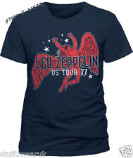 LED Zeppelin - Icarus 77 Tour T-shirt Navy Large Tshirt