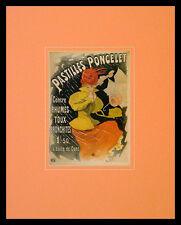Jules Cheret Pastilles Poncelet Poster Bild Kunstdruck im Alu Rahmen 50x40cm