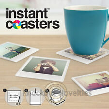 Instant Photo Coasters Glasses Drink Ring Table Coaster Set Custom Coffetable