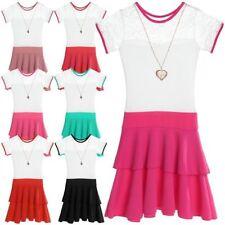 Markenlose Kurzarm Größe 98 Mädchenkleider