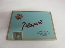 VINTAGE ADVERTISING EMPTY PLAYERS FLAT 50'S   TOBACCO TIN   94-