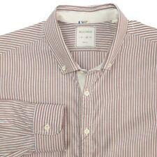 Billy Reid Button Down Brown White Stripe Casual Shirt Mens XL Slim Fit