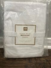 "Nwt Pottery Barn Pb Teen Classic Metro Twin bed skirt 18"" drop white"