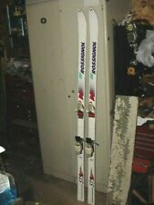 "VINTAGE SNOW SKIS 72"" COTTAGE CABIN DECOR ROSSIGNOL STS CARBON SPAIN"