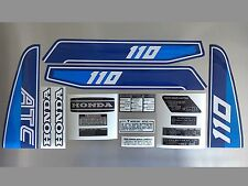 Honda ATC 110 Stickers Set Warning Advice For Vintage Trike 1982 Sticker
