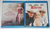 Marilyn Monroe Blu-ray Lot - The Misfits (New) How to Marry a Millionaire (New)