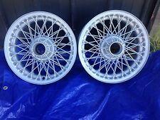 "automotive wire wheels (2), 60 spoke, 51/2X15"", powder coated f. British cars"