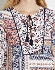 Warehouse Viscose Waist Floral Tops & Shirts for Women