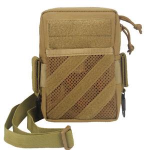 Tan 1000D Nylon Tactical Molle Shoulder Bag EDC Pack Tool Bags Durable Outdoor
