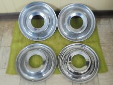 "49 50 Ford Accessory Trim Beauty Rings 15"" Set 4 Wheel Hubcap Surround 1949 1950"