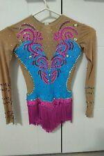 Rhythmic gymnastics leotard (Hot pink and blue) (will fit 10-12 yrs old)