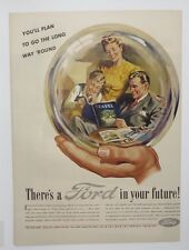Original Print Ad 1945 There's a FORD in Your Future You'll Plan Long Way 'Round