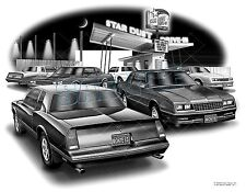 MONTE CARLO 1987 SS 83,84,85,86,88 MUSCLE CAR ART PRINT #1911