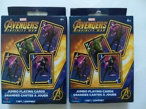 Marvel Avengers Infinity War Jumbo Deck Playing Cards set of 2 NEW Free Shipping